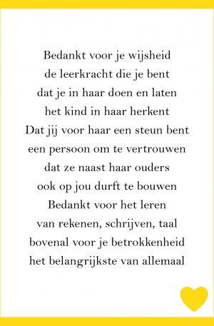 Ansichtkaart Leerkracht Zoon Pilula