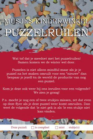 a6 puzzel flyer